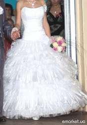 Свадебное платье - трансформер,  42-46р