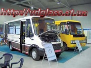 Автостекло триплекс,  лобовое стекло для автобусов ГаЛАЗ