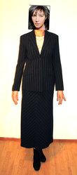 Костюм двойка пиджак и длинная юбка  46 р.