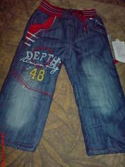 Теплые джинсы махра