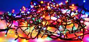 Гирлянда на елку 100ламп разноцветная