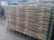 Эко-забор с лозы орешника
