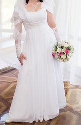 Продам свадебное платье размер 46-48