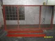 Три секции забора сетка в угольнике со столбами-швеллерами -комплект.