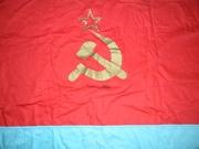 Винтажный флаг УССР и новый зонтик-трость Партии Регионов 2010 год.